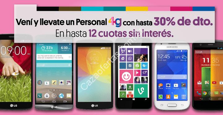 6773275cbca Oferta en Point: hasta 30% de descuento y 12 cuotas sin interés en celulares  Personal 4G seleccionados.