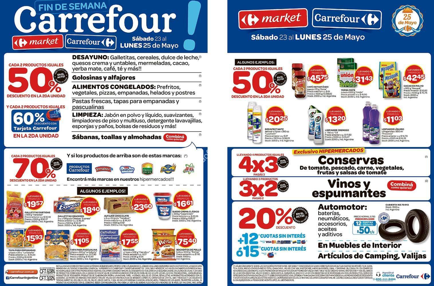 Oferta Carrefour fin de semana: Hasta 70% de descuento y 4