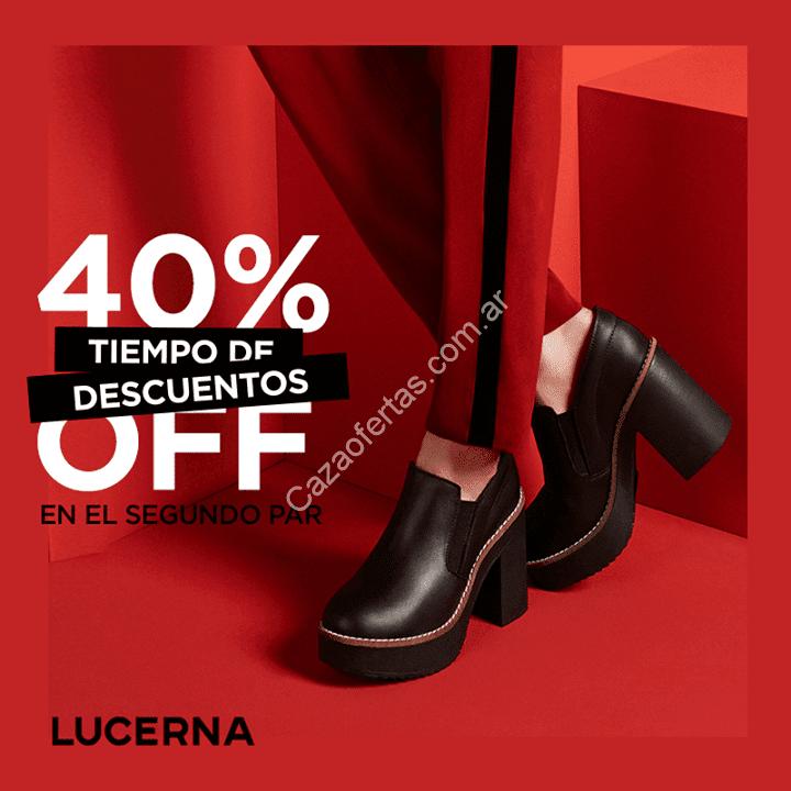 73cb1a05 Promoción Tiempo de descuento en Lucerna: 40% de descuento en el segundo  par en calzado seleccionado.