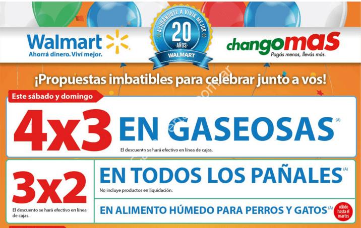 Ofertas de fin de semana en Walmart: 4×3 en gaseosas y 25%