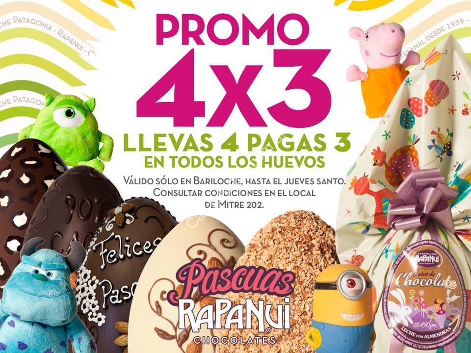 promo felices pascuas con rapa nui 4 3 en huevos de chocolate v lido en sucursal bariloche. Black Bedroom Furniture Sets. Home Design Ideas