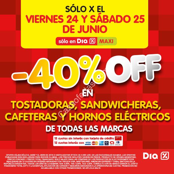 Ofertas de fin de semana en tiendas Dia% 23 al 26 de junio