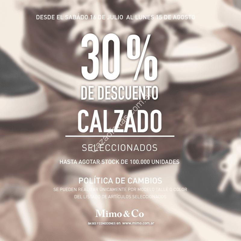 b0b790228c452 Liquidación de invierno en Mimo   Co  30% de descuento en calzado. Hasta el  15 de Agosto.