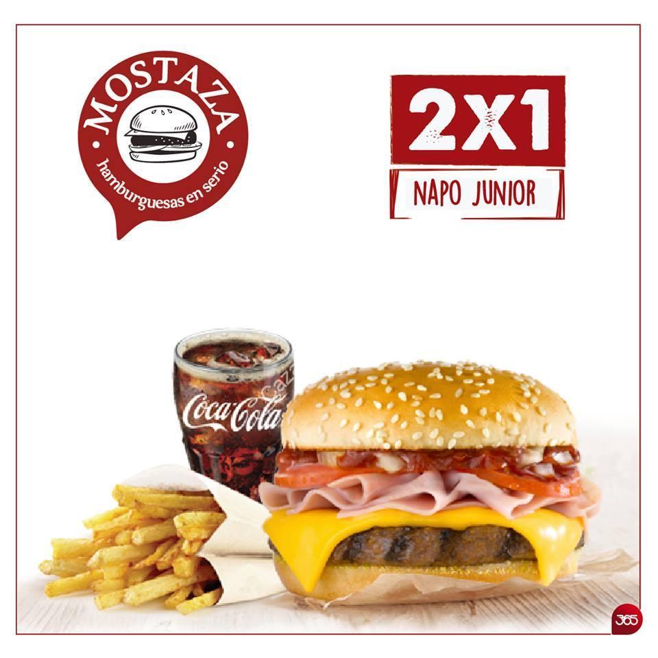 Promo en mostaza hamburguesas en serio 2 1 en combo napo for Cuarto xl mostaza