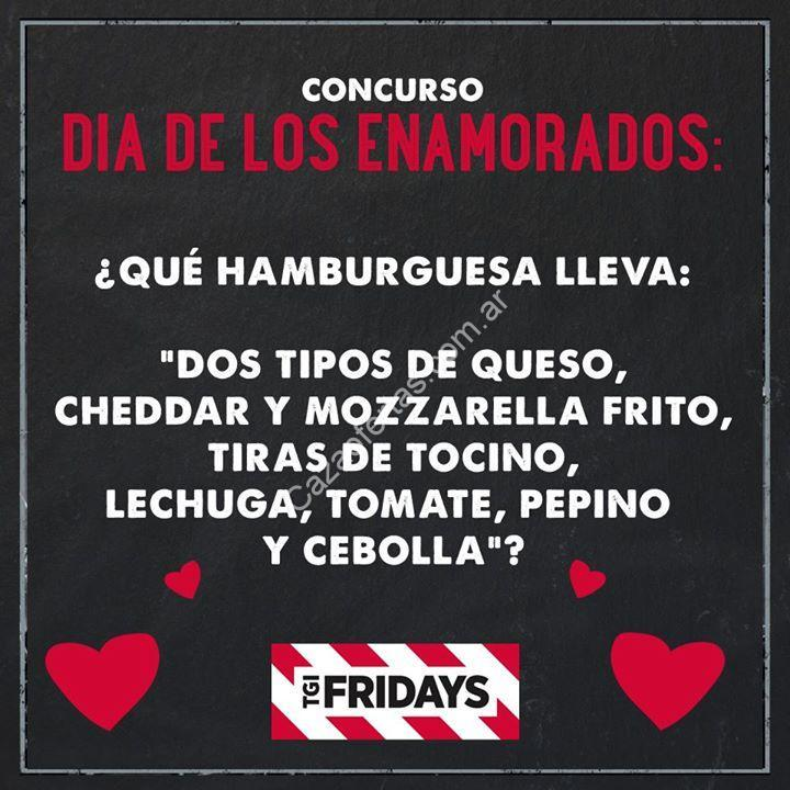 Tgi Fridays Regala Una Cena Para 2 Personas En Su Concurso Del Día