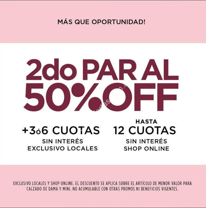 c0a4fbadcf9 En Viamo segundo par al 50% off + cuotas sin interés en locales y shop  online