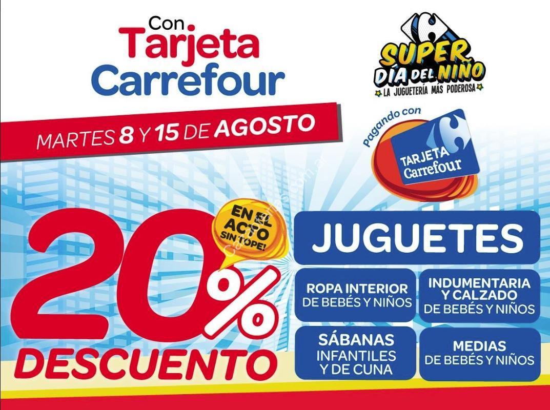 Promo tarjeta carrefour d a del ni o 2017 20 de descuento en juguetes y m s el 8 y 15 de agosto - Ropa interior carrefour ...
