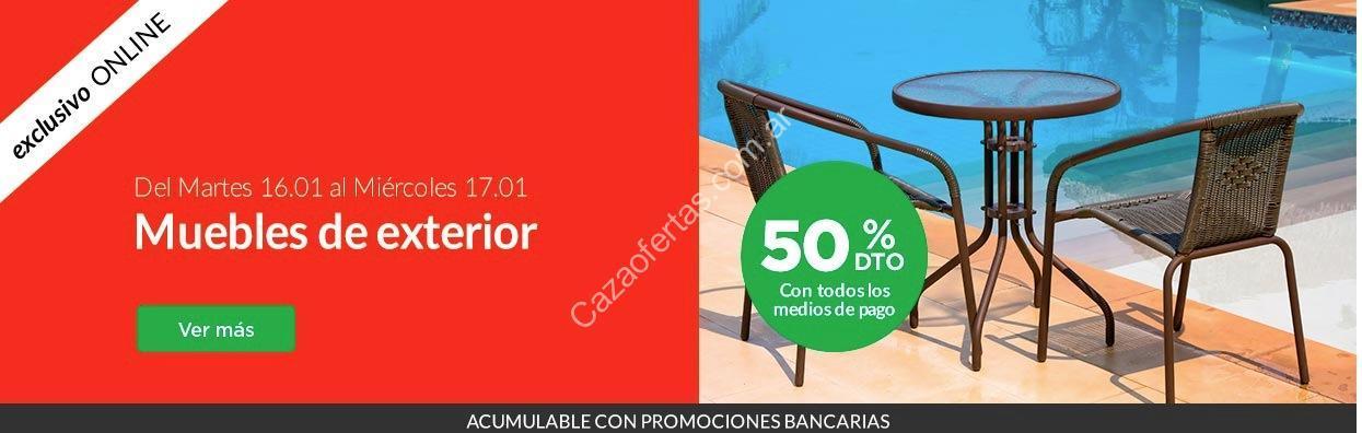 Promo Jumbo online muebles de exterior con 50% off