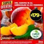 Ofertas DIA en frutas, verduras y carnes del Jueves 18 al Miércoles 24 de febrero
