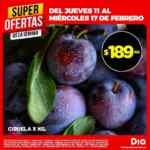 Ofertas DIA en Frutas, verduras y carnes del jueves 11 almiércoles 17 de febrero
